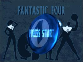 Title screen of The Fantastic Four on the Sony Playstation.
