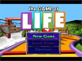 Title screen of The Game of Life on the Sony Playstation.