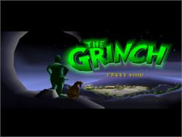Title screen of The Grinch on the Sony Playstation.