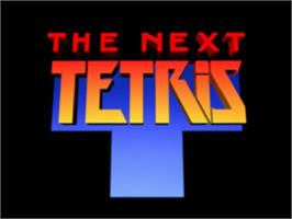 Title screen of The Next Tetris on the Sony Playstation.