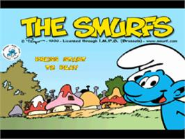 Title screen of The Smurfs on the Sony Playstation.