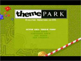 Title screen of Theme Park on the Sony Playstation.
