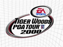Title screen of Tiger Woods PGA Tour 2000 on the Sony Playstation.
