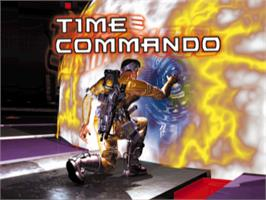 Title screen of Time Commando on the Sony Playstation.