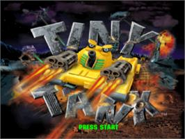 Title screen of Tiny Tank on the Sony Playstation.