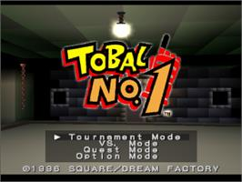 Title screen of Tobal No.1 on the Sony Playstation.