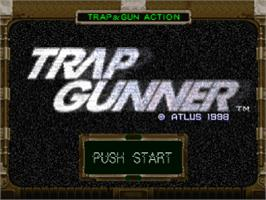Title screen of Trap Gunner on the Sony Playstation.