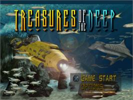 Title screen of Treasures of the Deep on the Sony Playstation.