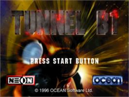 Title screen of Tunnel B1 on the Sony Playstation.