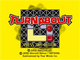 Title screen of Turnabout on the Sony Playstation.