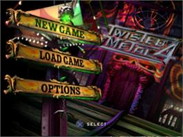 Title screen of Twisted Metal 4 on the Sony Playstation.