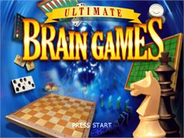 Title screen of Ultimate Brain Games on the Sony Playstation.