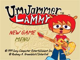 Title screen of Um Jammer Lammy on the Sony Playstation.