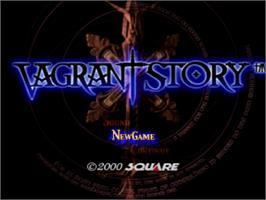 Title screen of Vagrant Story on the Sony Playstation.