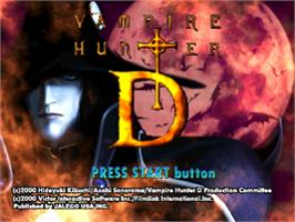 Title screen of Vampire Hunter D on the Sony Playstation.