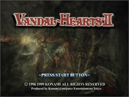 Title screen of Vandal Hearts II on the Sony Playstation.