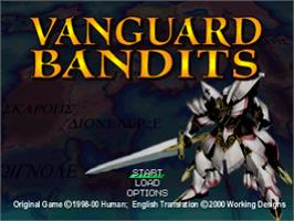 Title screen of Vanguard Bandits on the Sony Playstation.