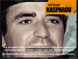 Title screen of Virtual Kasparov on the Sony Playstation.
