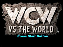 Title screen of WCW vs. the World on the Sony Playstation.
