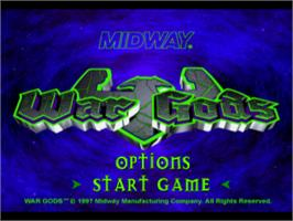 Title screen of War Gods on the Sony Playstation.