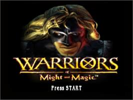 Title screen of Warriors of Might and Magic on the Sony Playstation.
