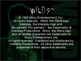 Title screen of Wild 9 on the Sony Playstation.