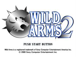 Title screen of Wild Arms 2 on the Sony Playstation.