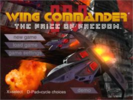 Title screen of Wing Commander IV: The Price of Freedom on the Sony Playstation.