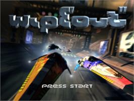 Title screen of Wipeout on the Sony Playstation.