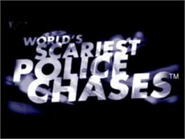 Title screen of World's Scariest Police Chases on the Sony Playstation.