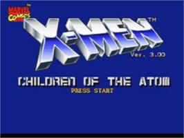 Title screen of X-Men: Children of the Atom on the Sony Playstation.
