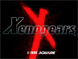 Title screen of Xenogears on the Sony Playstation.