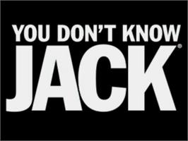 Title screen of You Don't Know Jack on the Sony Playstation.