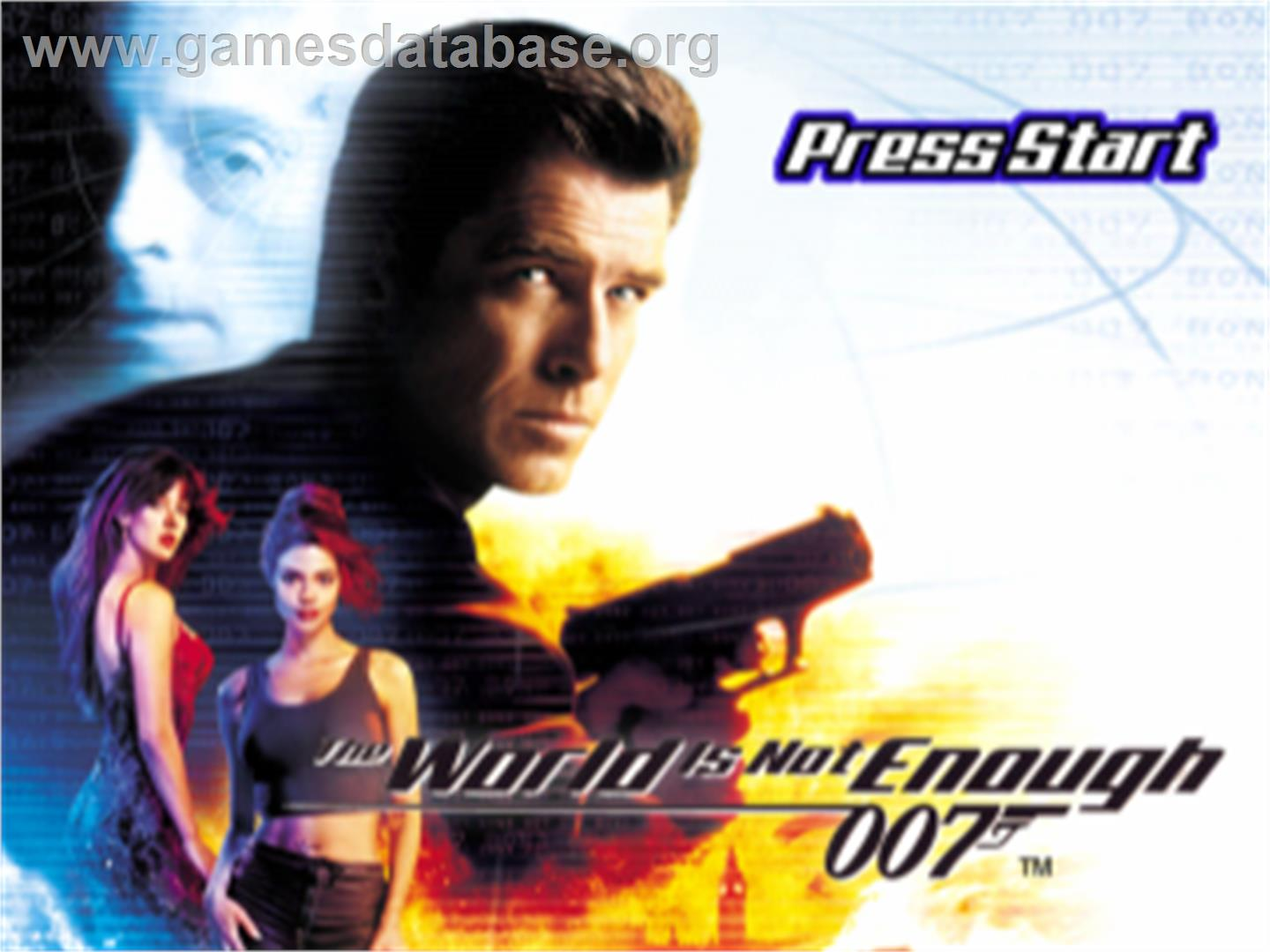 007: The World is Not Enough - Sony Playstation - Artwork - Title Screen