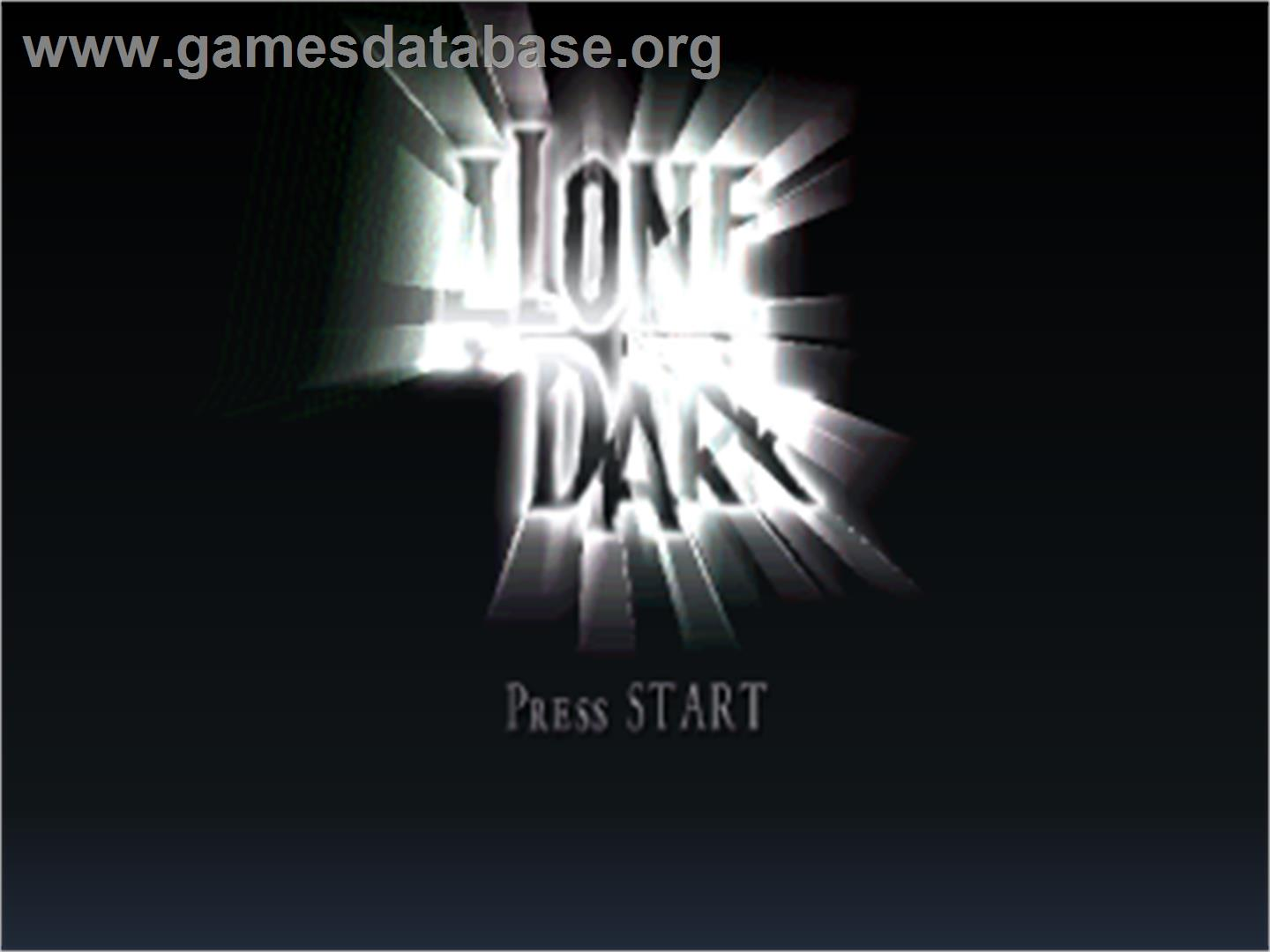Alone in the Dark: The New Nightmare - Sony Playstation - Artwork - Title Screen