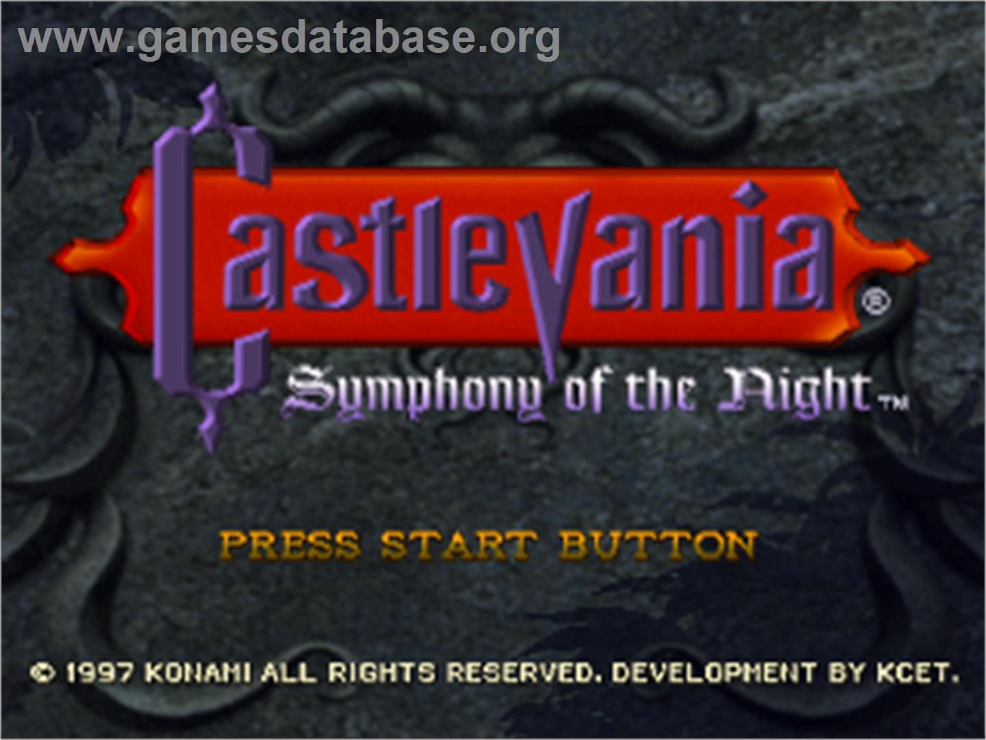 Castlevania: Symphony of the Night - Sony Playstation - Artwork - Title Screen
