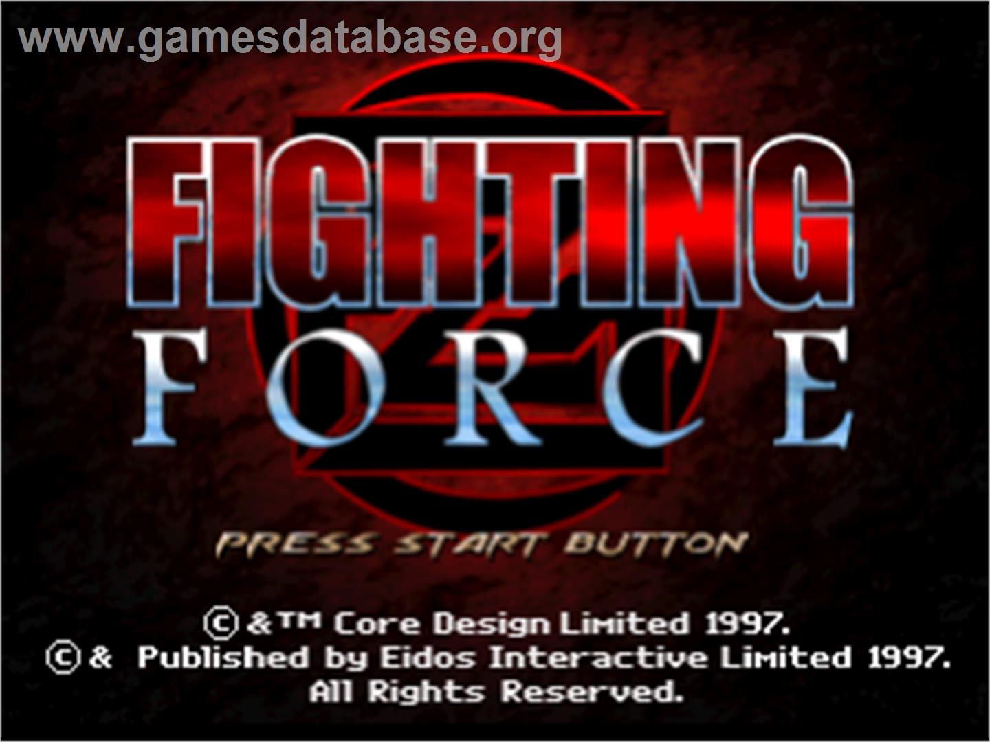 Fighting Force - Sony Playstation - Artwork - Title Screen