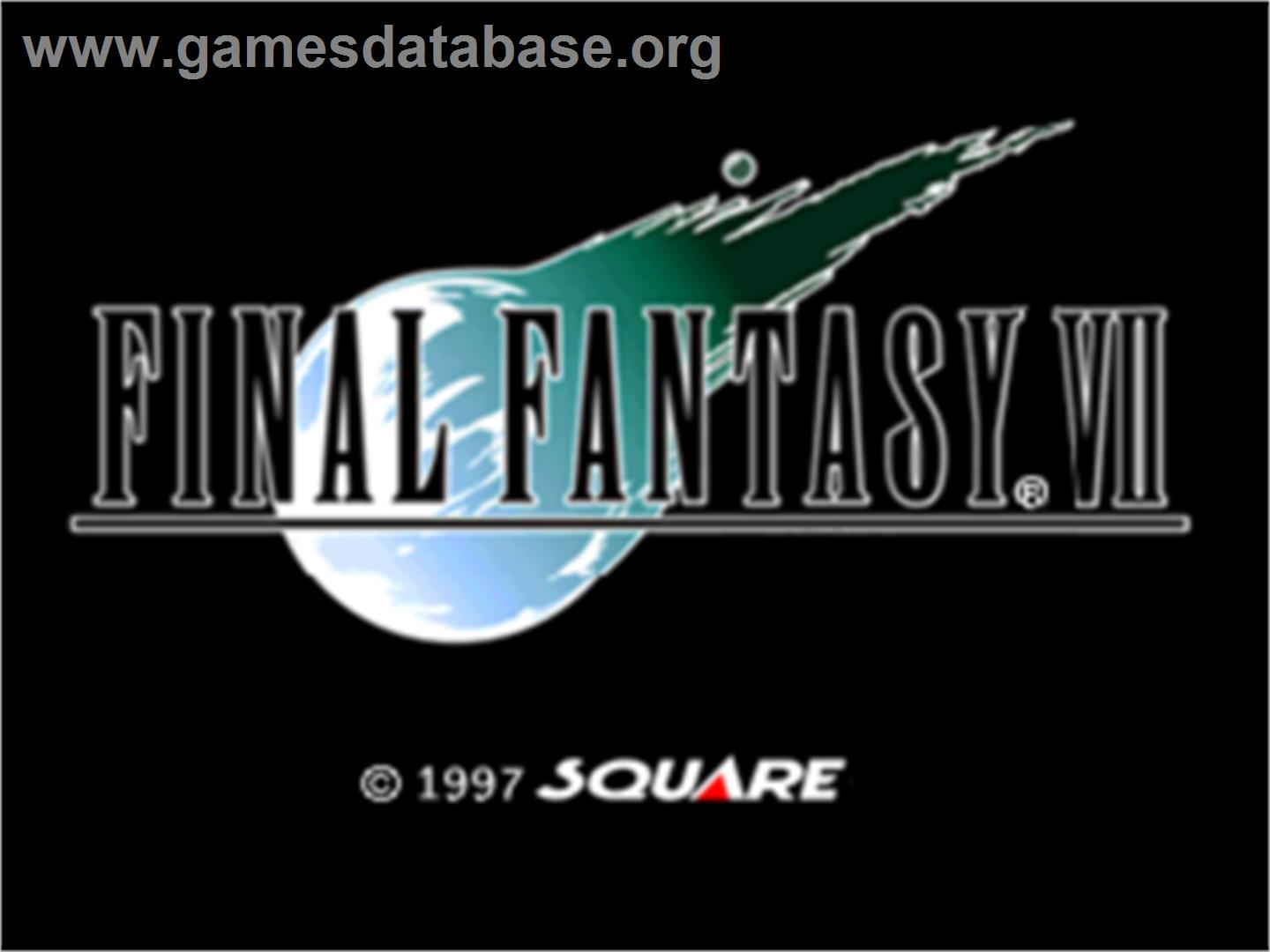 Final Fantasy VII - Sony Playstation - Artwork - Title Screen