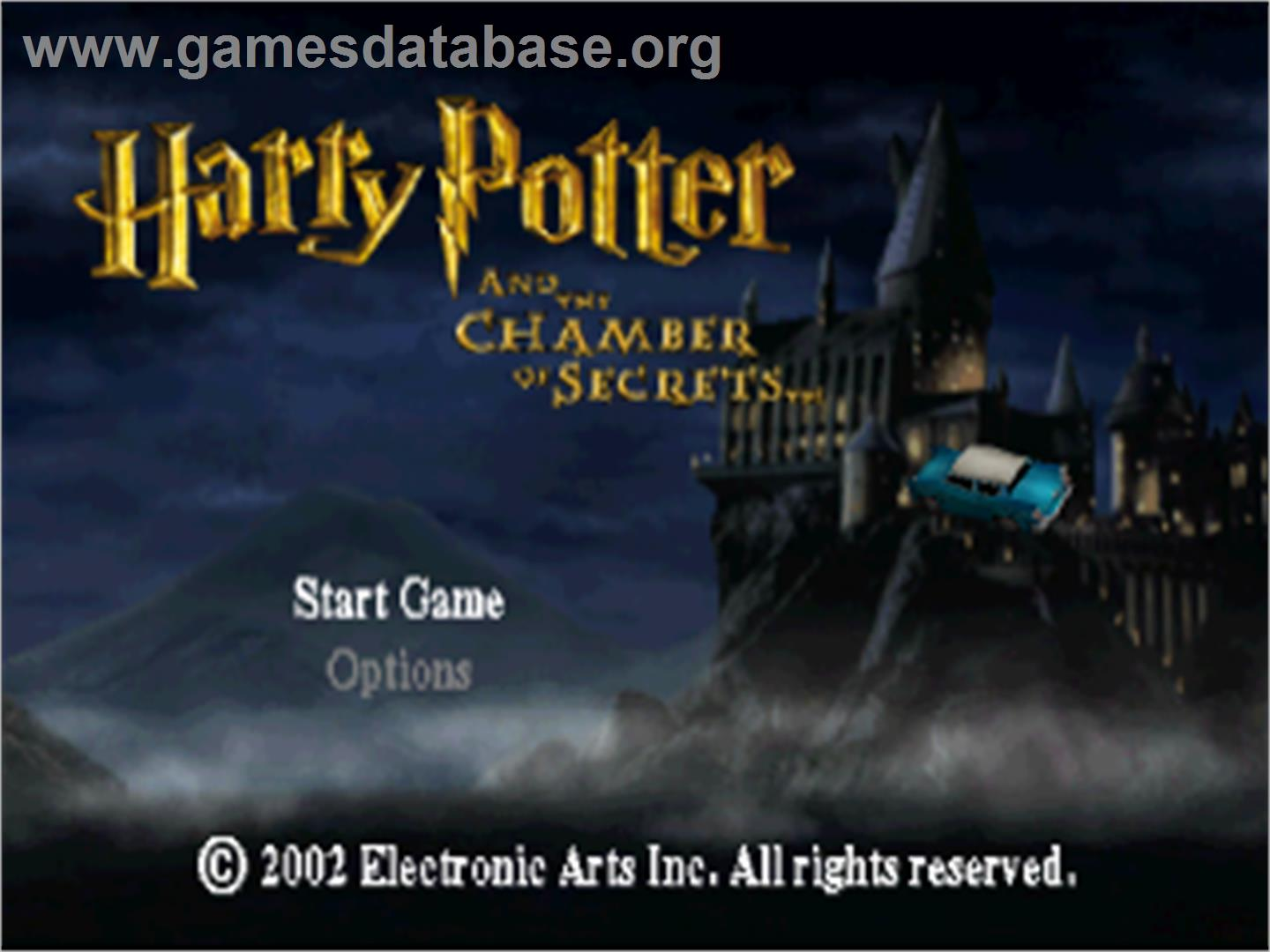 Harry Potter and the Chamber of Secrets - Sony Playstation - Artwork - Title Screen