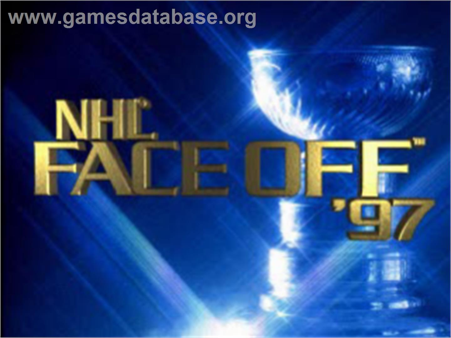 Title screen of NHL FaceOff '97 on the Sony Playstation.