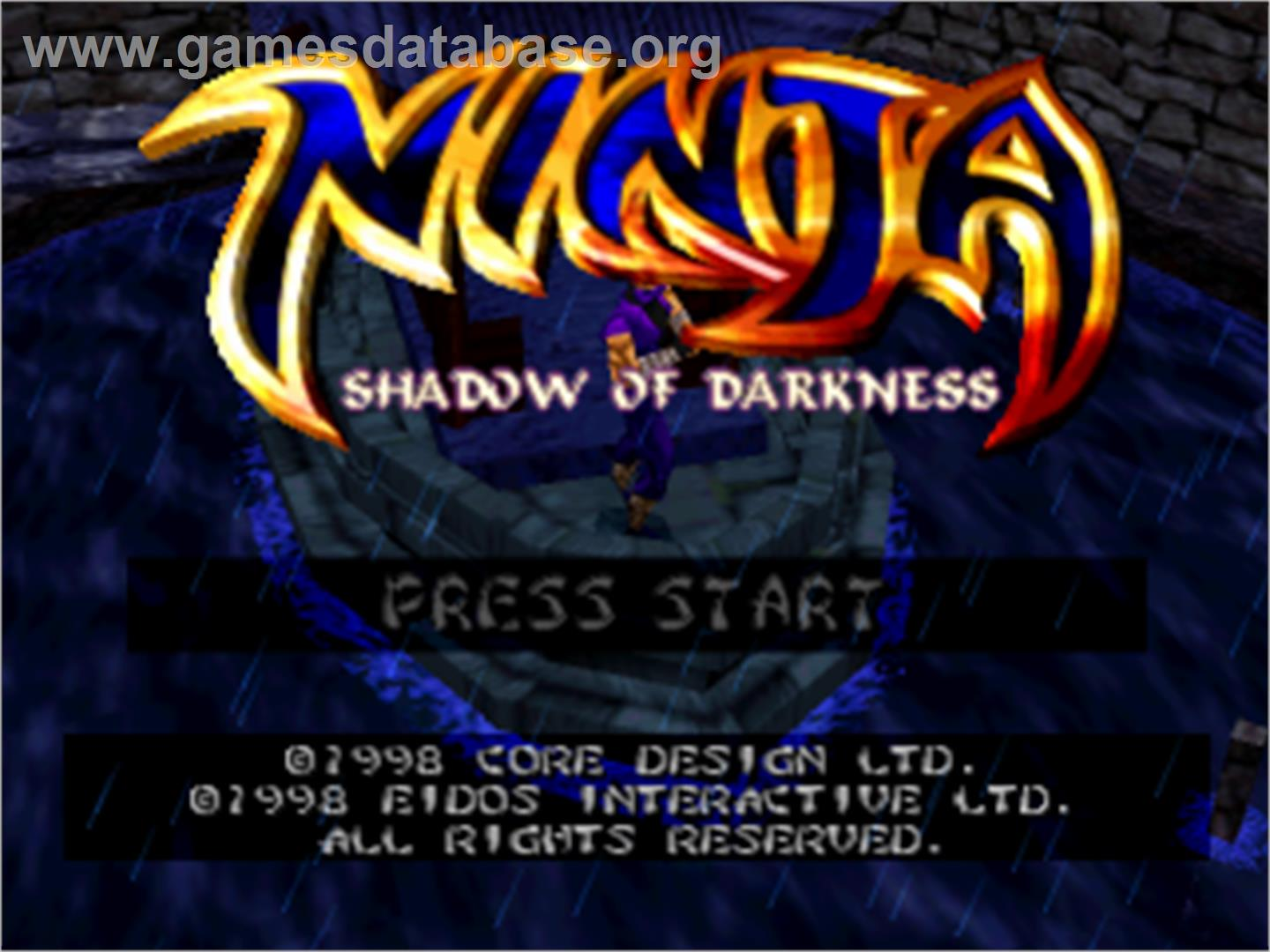Ninja: Shadow of Darkness - Sony Playstation - Artwork - Title Screen