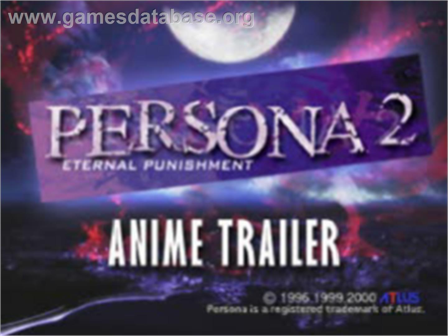Persona 2: Eternal Punishment - Sony Playstation - Artwork - Title Screen
