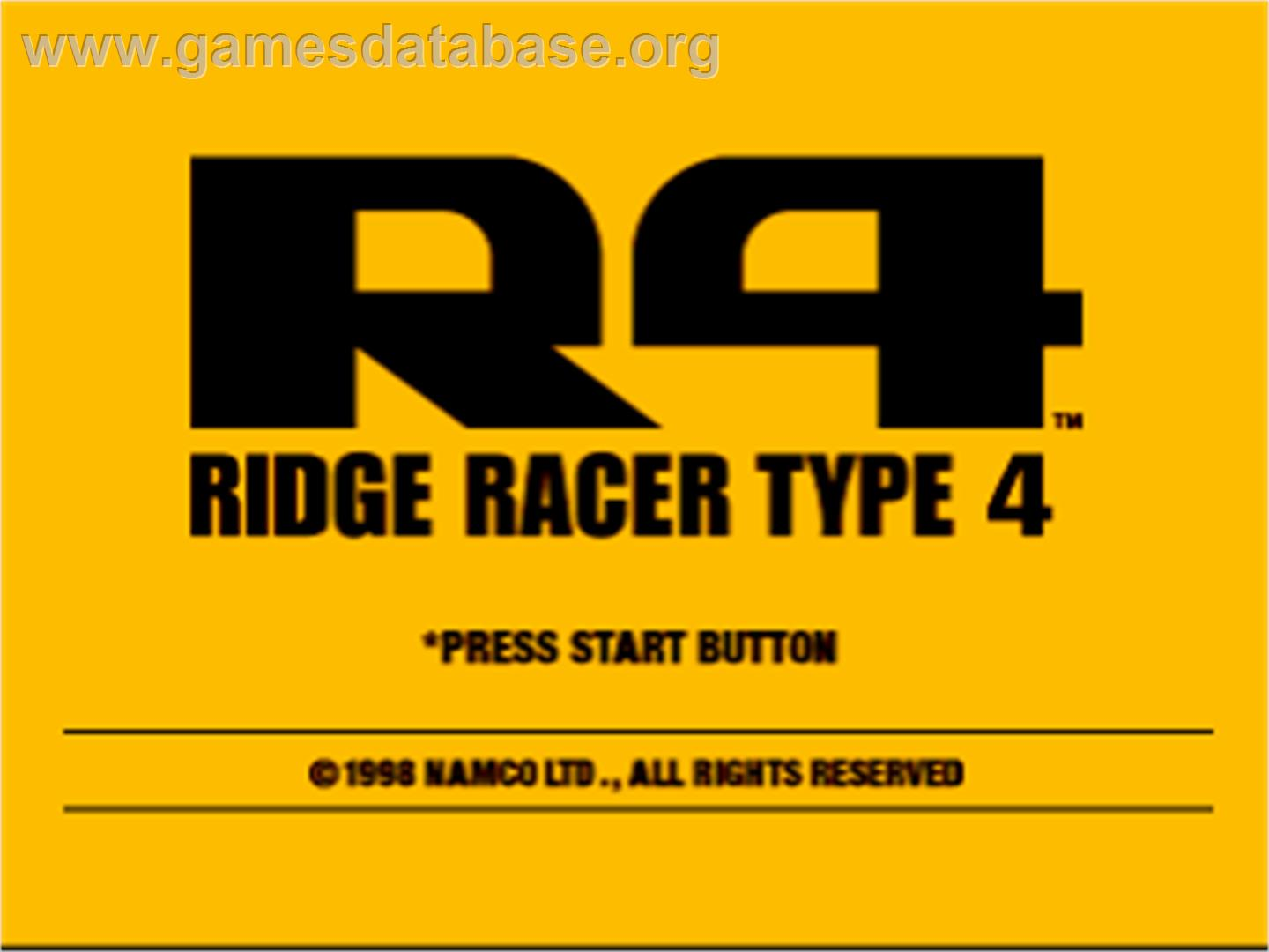 R4 Ridge Racer Type 4 - Sony Playstation - Artwork - Title Screen