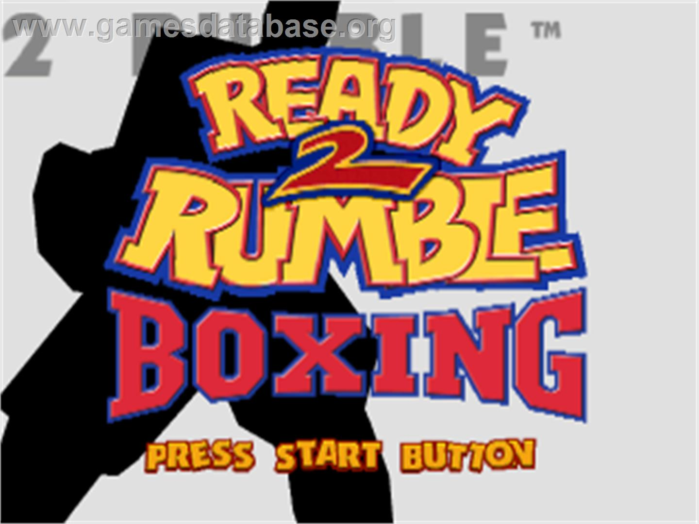 Ready 2 Rumble Boxing - Sony Playstation - Artwork - Title Screen