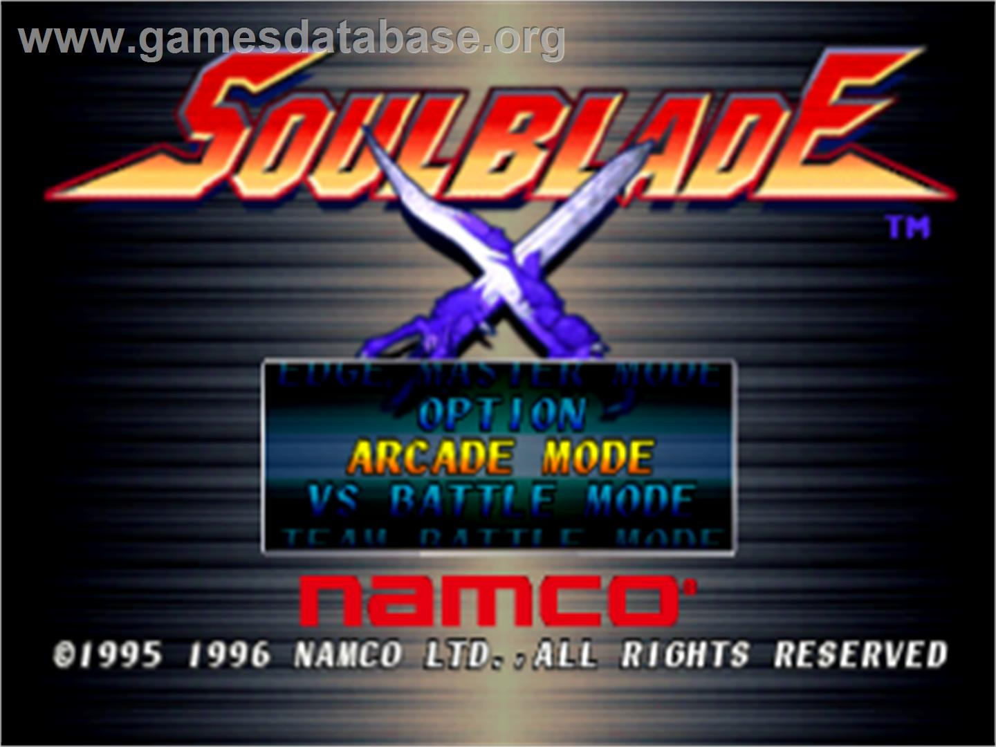 Soul Blade - Sony Playstation - Artwork - Title Screen