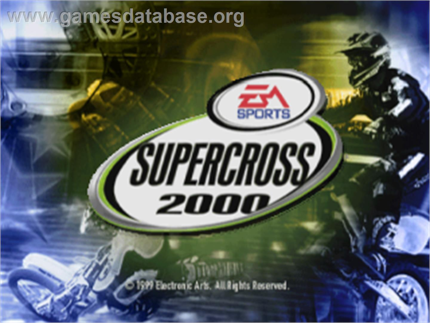 Supercross 2000 - Sony Playstation - Artwork - Title Screen