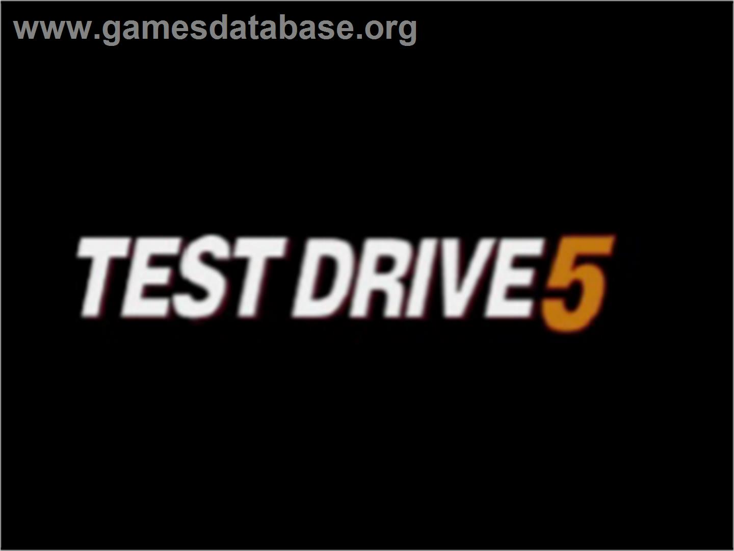 Test Drive 5 - Sony Playstation - Artwork - Title Screen