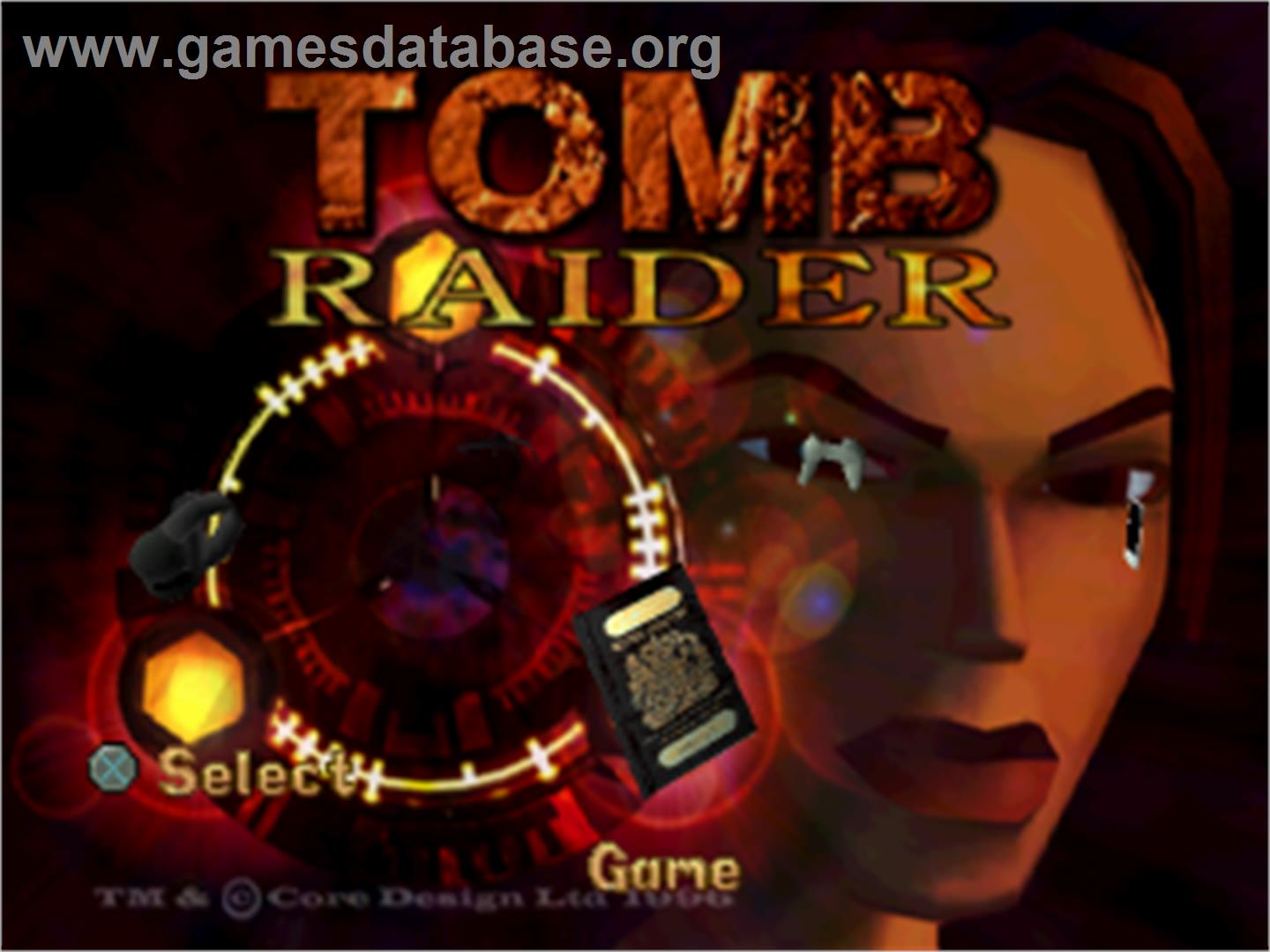 Tomb Raider - Sony Playstation - Artwork - Title Screen