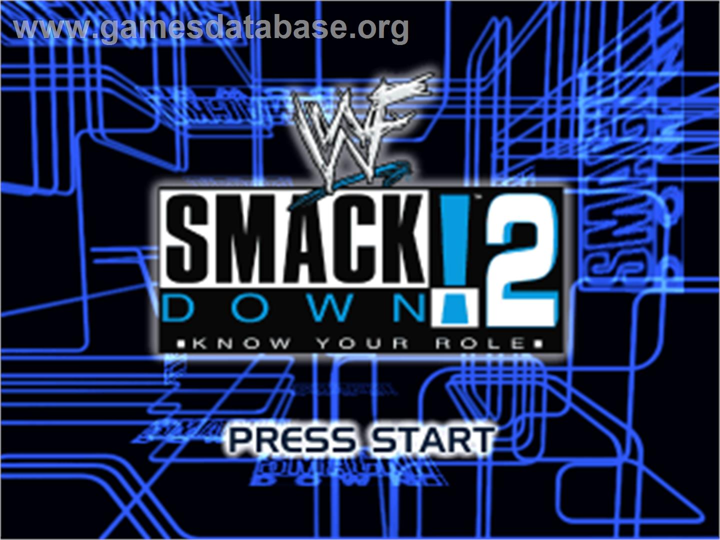 WWF Smackdown! - Sony Playstation - Artwork - Title Screen
