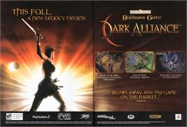 Advert for Baldur's Gate: Dark Alliance on the Nintendo Game Boy Advance.